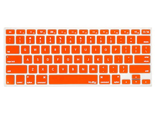 Kuzy ORANGE Keyboard Cover Silicone Skin for MacBook Pro 13