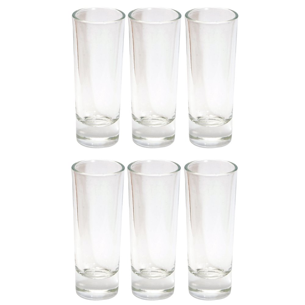 Thirsty Rhino Anja, Round 2 oz Tall Shooter Shot Glass with Heavy Base, Clear Glass ANJA_1PK