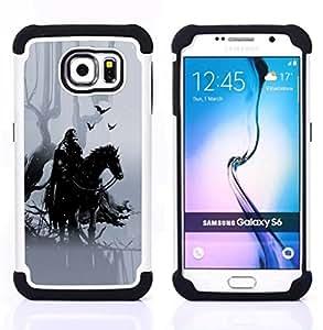 BullDog Case - FOR/Samsung Galaxy S6 G9200 / - / Forrest Warrior Mist /- H??brido Heavy Duty caja del tel??fono protector din??mico - silicona suave