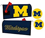 Michigan Wolverines Magnetic Mailbox Cover & Sticker Set
