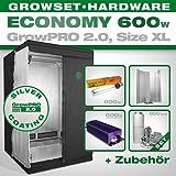 GrowPRO Growbox 2.0 XL - Set per la coltivazione da interno, con lampada a risparmio energetico da 600 W