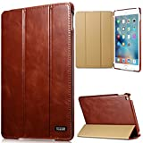 2018 iPad Pro 12.9 Case Vintage Series Genuine Leather Flip Cover Folio Case Slim Leather Case Stand Function Smart Cover with Auto Wake Sleep Function for Apple iPad Pro 12.9inch 2018 year (Brown)