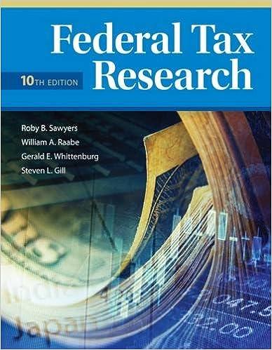 Book Federal Tax Research