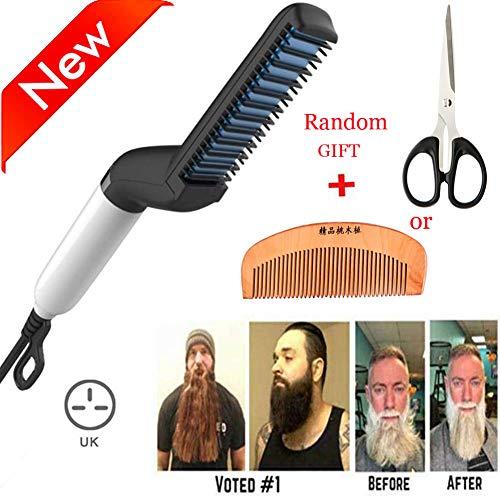 Beard Straightener Comb, Beard Straightening brush, Hair Straightening Comb For...
