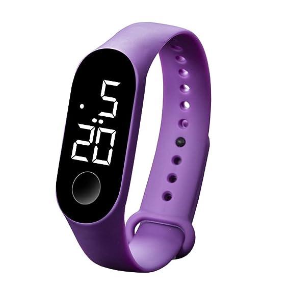 Pulsera Mujer Hombre, LMMVP Sumergible 50m, Relojes LED Electrónicos Deportivos con Sensor Luminoso Relojes de Moda para Hombres y Mujeres