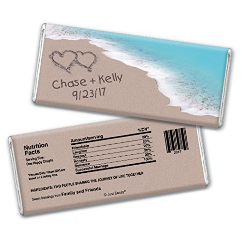 Personalized Wedding Beach Themed Favors HERSHEY'S Chocolate Bar Wrappers Only (25 - Shower Candy Bridal Wrapper
