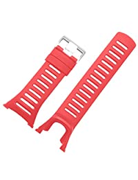 Replacement Watch Band,Efitty Rubber Strap Replacement Watch Band Strap For Suunto Ambit 3 Peak / Ambit 2 / Ambit 1 (Red)