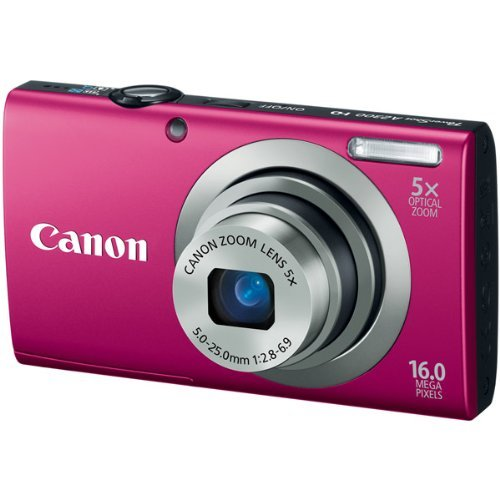 Canon PowerShot A2300 16 Megapixel Compact Camera - Red [6192B001] -