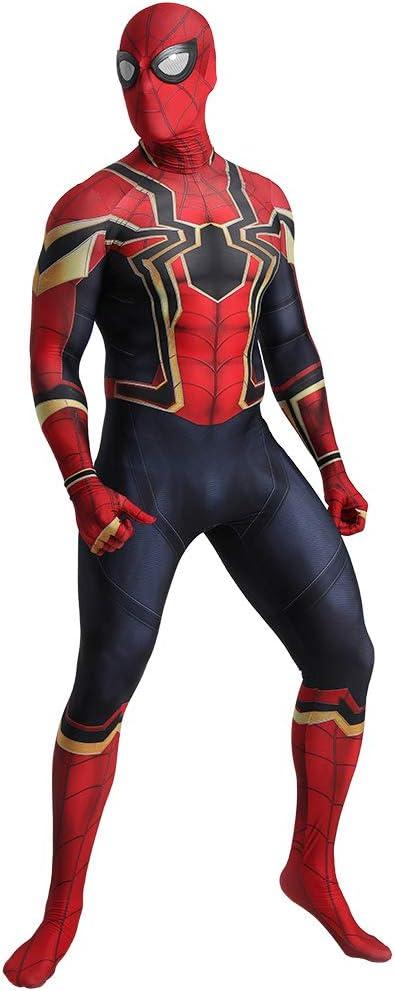FYBR Disfraz de superpiel de araña de hierro, para adultos, unisex ...