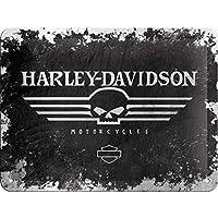 Nostalgic-Art Harley-Davidson Skull Logo Cartel de Chapa 15x20