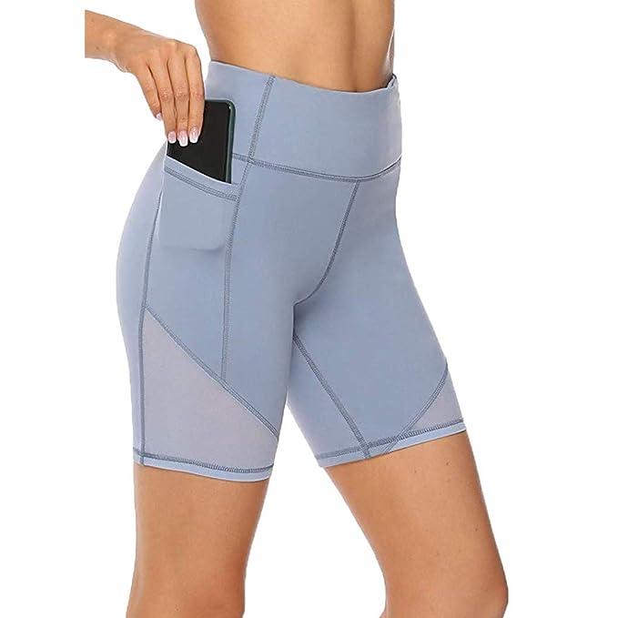 MUJER FELIZ Pantalones de yoga, cintura alta, control de la ...