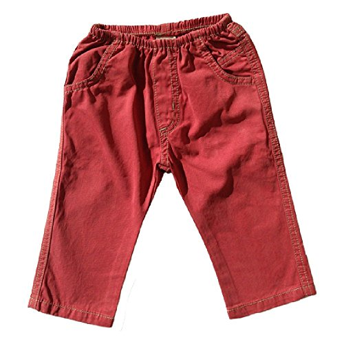 Charlie Rocket Baby Boy Twill Pants Red (18/24M)