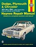 Dodge, Plymouth and Chrysler RWD, 1971-1989, Robert Maddox and John Haynes, 1563920980