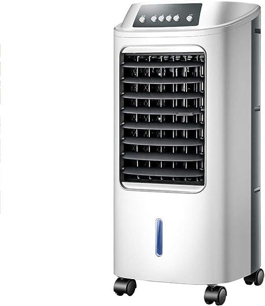 Ventilador con Pedestal, Ventilador del Enfriador de Aire portátil, Tanque de Agua 6L, Alta eficiencia de enfriamiento, configuración de 3 velocidades con 120 ° de oscilación, para Oficina, hogar,: Amazon.es: Hogar