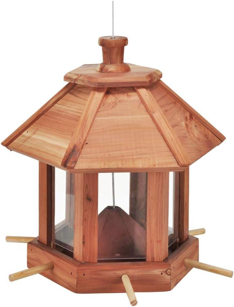 Comedero para pájaros, 26x 26x 27cm, madera