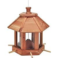 Karmnik dla ptaków, stacja dokarmiania dla ptaków, 26 x 26 x 27 cm, z drewna