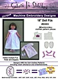 18'' Doll Play PJs - In the Hoop - Machine Embroidery Designs
