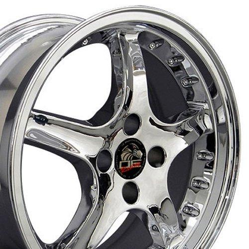 OE Wheels 17 Inch Fits Ford Mustang 1979-1993 4Lug Cobra R Style FR04A Chrome 17x8 Rim