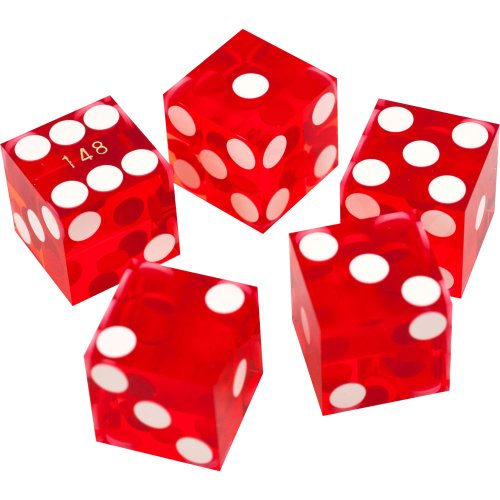 Trademark Poker 10-DC19RED 19mm A Grade Serialized Set of Casino Dice (Red) -