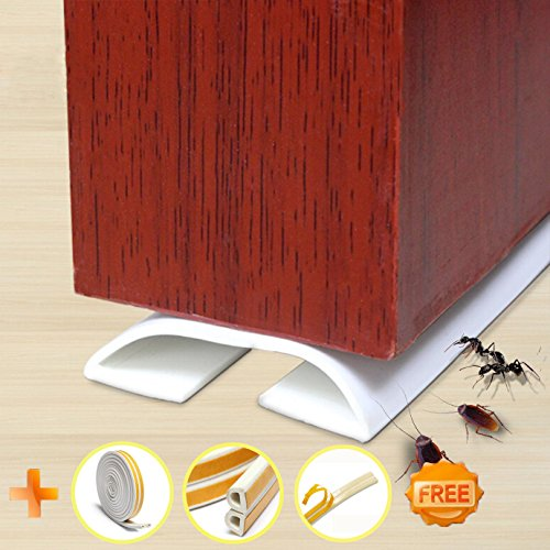 (Under Door Draft Blocker Draught Excluder Self-Adhesive Rubber Door Bottom Seal Strip Under Door Sweep Weather Stripping Door Gap Stopper Soundproofing Noise Insulation 39