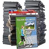 Super Sale - Virtual Walks DVD Collection - 44 Disc Set for Indoor Walking Workouts - Jog Run Walk Exercise Fitness Motivation
