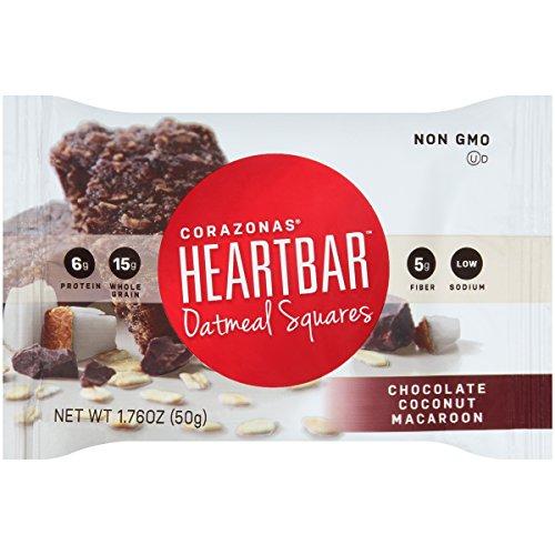 Heartbar Oatmeal Square, Chocolate Coconut Macaroon, 1.76 Ounce, 12 Count