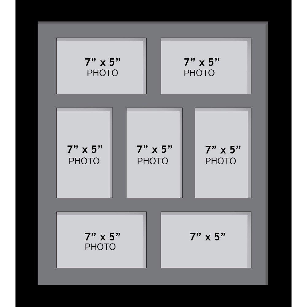 Amazon.de: Großer Mehrbild-Fotorahmen, Größe 17, 8 x 12, 7 cm mit 7 ...