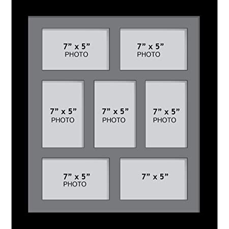 Large Multi Picture Photo Aperture Frame, 7\