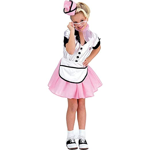 50s Girl Costumes, 50s Girl's Dresses Soda Pop Girl Large 50s 50s Retro Costume  AT vintagedancer.com