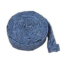 35FT/10.6M Central Vacuum Padded Zipper Hose Sock Cover - Pattern Blue
