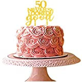 50 never looked so good cake topper for 50th birthday party decorations gold acrylic