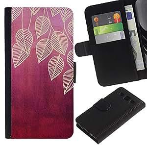 iBinBang / Flip Funda de Cuero Case Cover - Ciruelo Rojo del marrón de la Naturaleza - Samsung Galaxy S3 III I9300