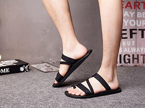 Xing Lin Sandalias De Hombre Piscina De Verano Para Hombres Zapatillas Marea Zapatos De Hombre Sandalias Romanas Sandalias Casual Calzado De Playa De Vietnam black