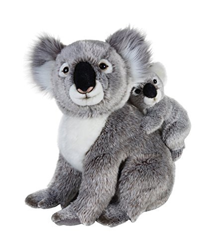 National Geographics KOALA Stuffed Animals Mother with Baby Plush Toy (2-Piece, Natural) by National Geographics by Lelly