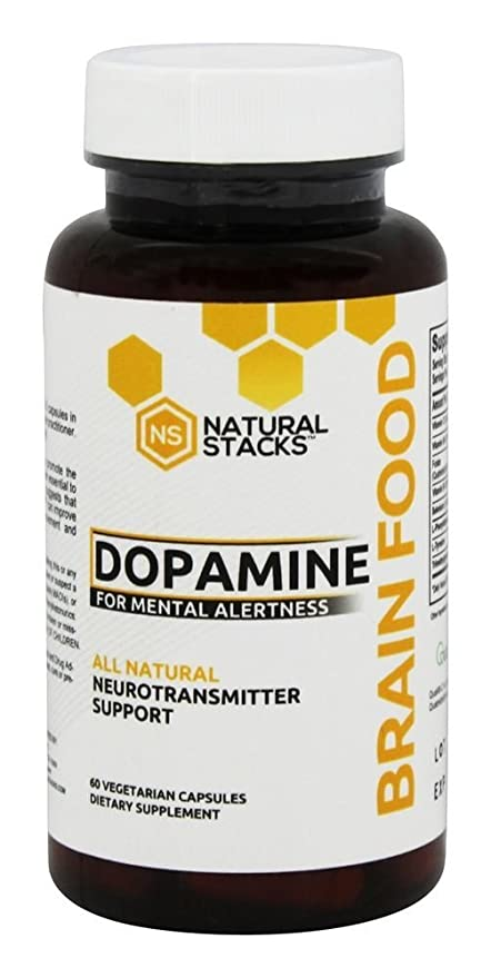 Natural Stacks - Dopamine All Natural Neurotransmitter Support - 60 cápsulas vegetarianas