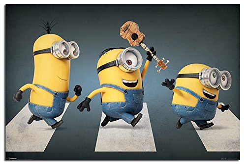 minions abbey road poster maxi