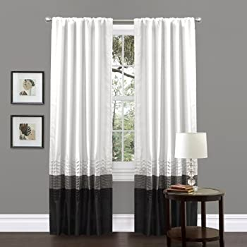 Amazon Com Lush Decor Prima Window Curtain Panel Pair 84