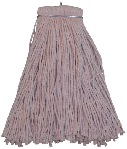 (Zephyr 20020 Shineup 4-Ply Cotton 20oz Screwflat Cut End Mop Head (Pack of 12))