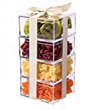 """Clear Plastic Box - 4"""" Square X 2"""" Tall - 6 Boxes"""