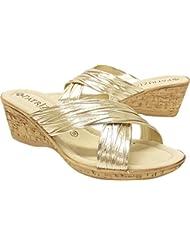 Patrizia Marge Womens Gold Sandal 39 M EU