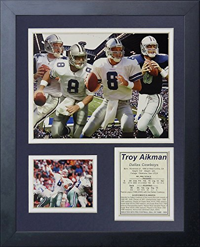 Legends Never Die Troy Aikman Framed Photo Collage, 11x14-Inch