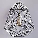 comtemporary lightening lamps GEOMETRIC IRON BLACK 60W INDUSTRIAL PENDANT CAGE - THE BLACK STEEL