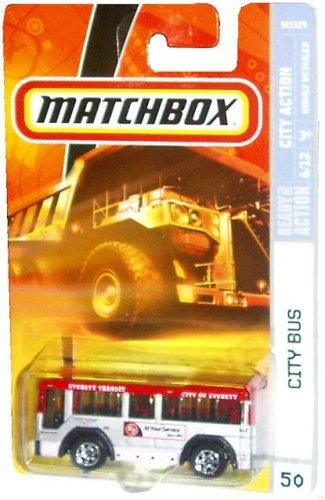 Matchbox 2007 Mbx City Action 1 64 Scale Die Cast Metal Car 50 City Of Everett Transit City Bus