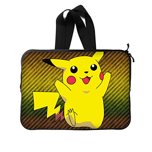 [JIUDUIDODO Custom Best Presents Anime Pokemon Lovely Pikachu Neoprene Laptop Sleeve 13