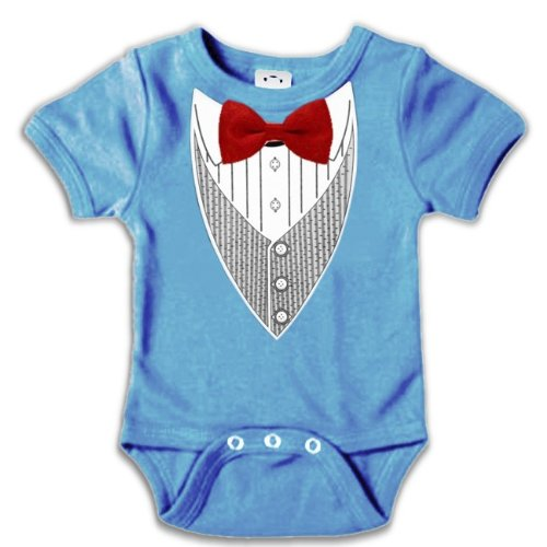 All Occasion Formal Tuxedo Infant Onesies (Light Blue) #9