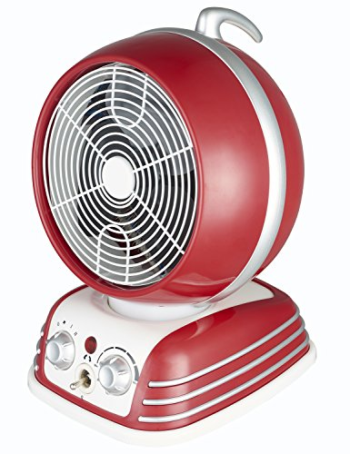 (Optimus H-1418 Retro Design Oscillating Fan Heater)
