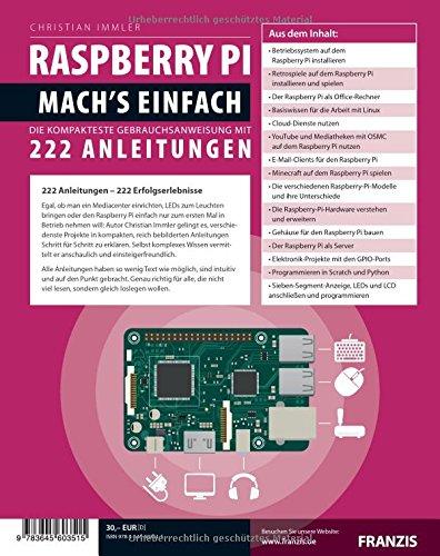 Raspberry Pi Für Maker Machs Einfach Amazoncom - Raspberry minecraft spielen