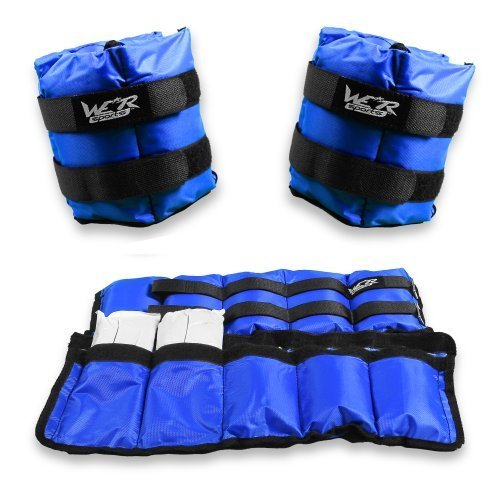We R Sports 4.5kg Adjustable Ankle Wrist Weights Exercise Training Fitness Running body toning 2 x 2kg