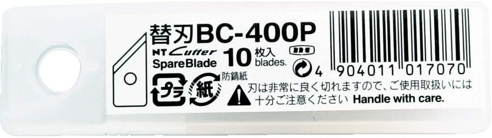 NT Cutter Blades for Heavy-Duty Circle Cutters and Mat Board Cutters, 10-Blade per Pack (BC-400P)