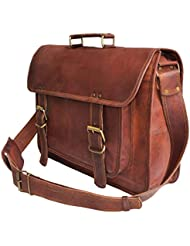 18 Large brown Leather bag for men messenger bag shoulder bag mens Laptop Bag
